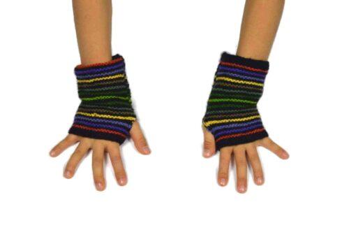 Alpaka Handschuhe Regenbogen Modell 4