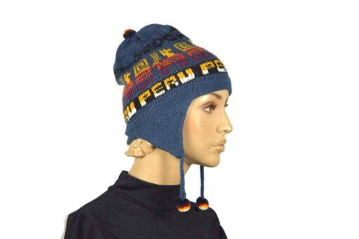 Alpaka Mütze Classico Blau Modell 1