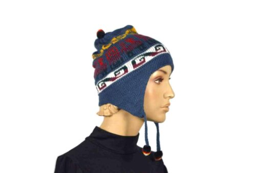 Alpaka Mütze Classico Blau Modell 2