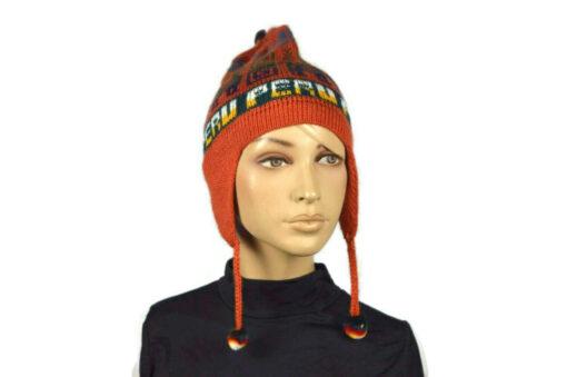Alpaka Mütze Classico Orange Modell 1
