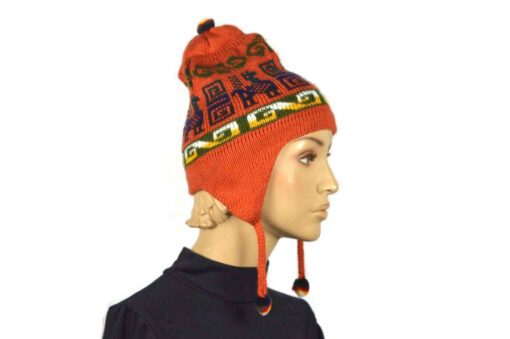 Alpaka Mütze Classico Orange Modell 2