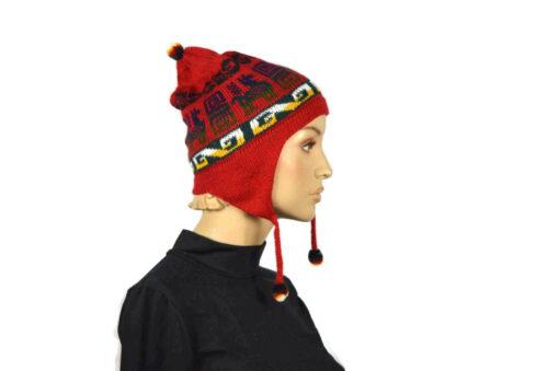 Alpaka Mütze Classico Rot Modell 1