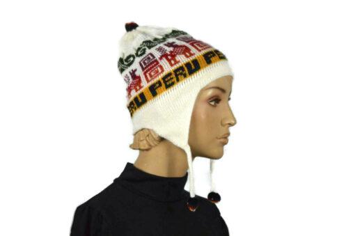 Alpaka Mütze Classico Weiß Modell 1