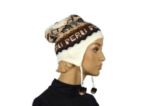 Alpaka Mütze Classico Weiß Modell 3