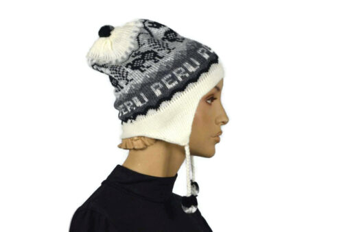 Alpaka Mütze Classico Weiß Modell 4