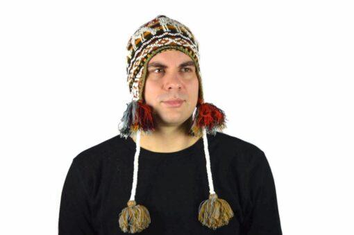 Peruanische Mütze Braun Modell 1