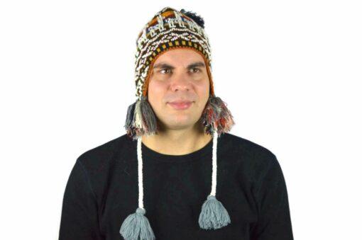 Peruanische Mütze Braun Modell 2