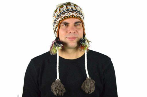 Peruanische Mütze Braun Modell 3