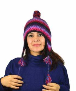Wollmütze violett