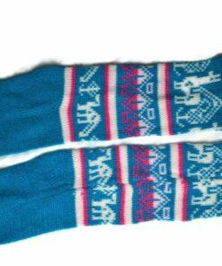 Bunten Alpaka Socken blau