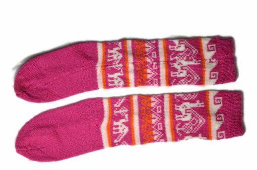 Bunten Alpaka Socken fuchsia
