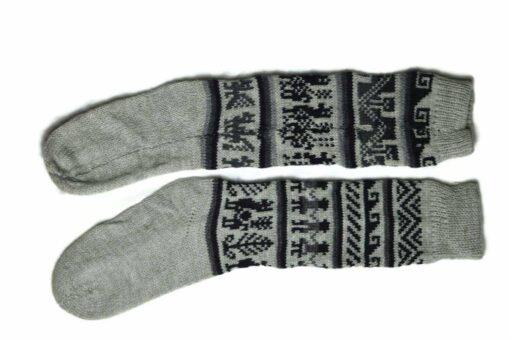 Bunten Alpaka Socken grau