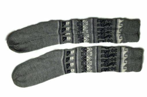 Bunten Alpaka Socken dunkelgrau
