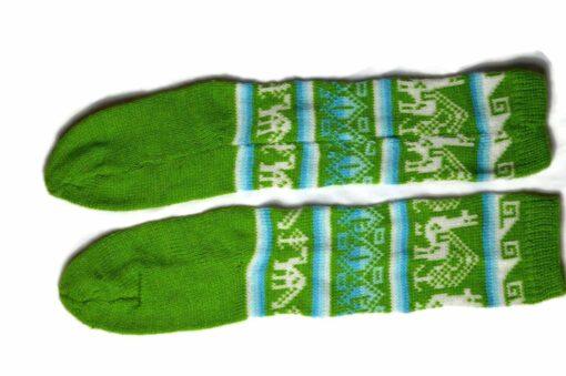Bunten Alpaka Socken grün