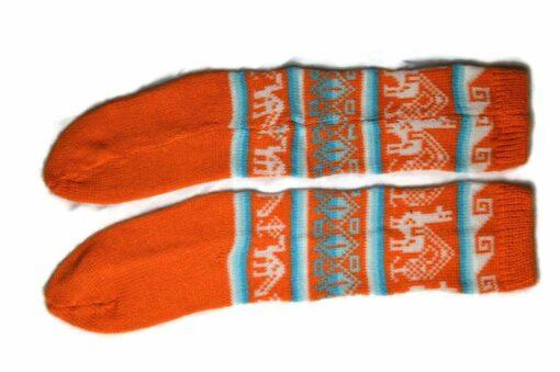 Bunten Alpaka Socken orange