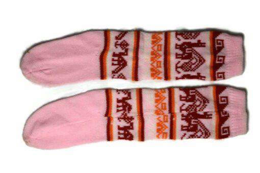 Bunten Alpaka Socken rosa