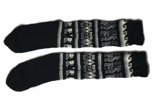 Bunten Alpaka Socken schwarz