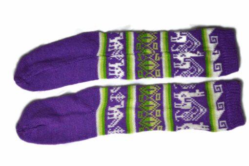 Bunten Alpaka Socken violett