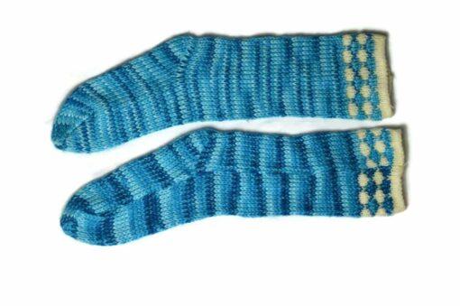 Streifen Socken blau