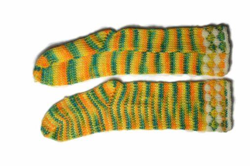 Streifen Socken gelb