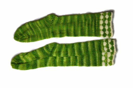 Streifen Socken grün