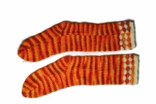 Streifen Socken orange