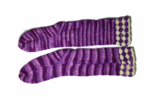Streifen Socken violett