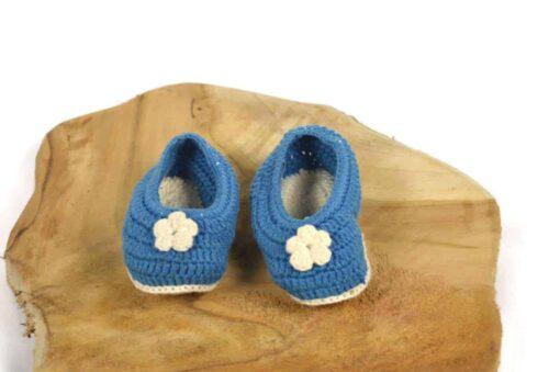 Babyschuhe aus Baumwolle blau
