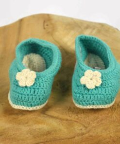 Babyschuhe aus Baumwolle türkis