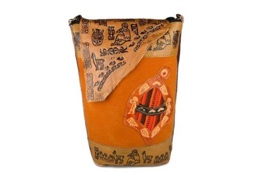 Umhängetasche Leder orange Modell 2