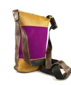 Umhängetasche Leder violett Modell 1