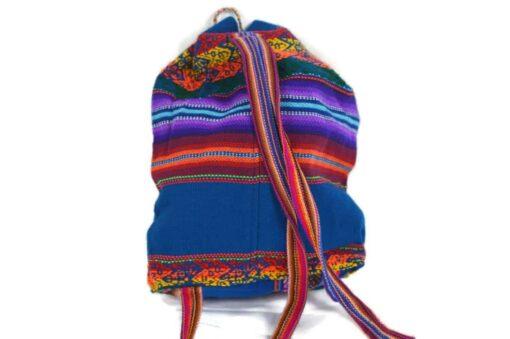Bestickter Kinderrucksack blau