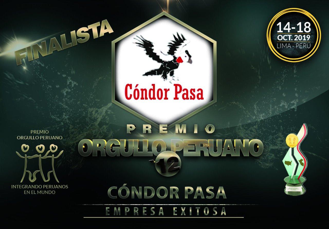 Auszeichnung Orgullo Peruano 2019 Condor Pasa