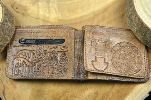 Geldbörse Chay mit Alpakafell Braun