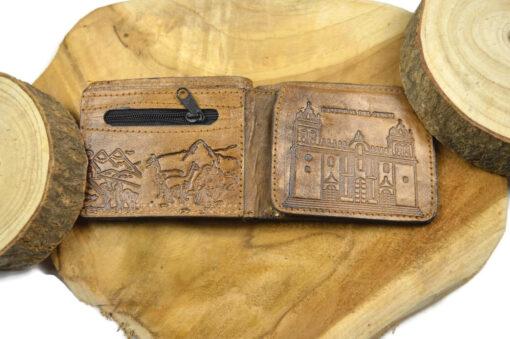 Geldbörse Chay mit Alpakafell Dunkelbraun